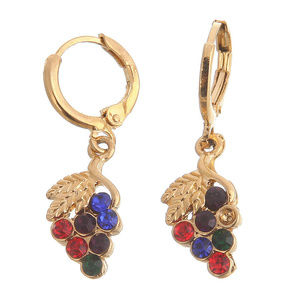 Jewelry - 14K Gold Filled Ruby & Sapphire Dangle Earrings